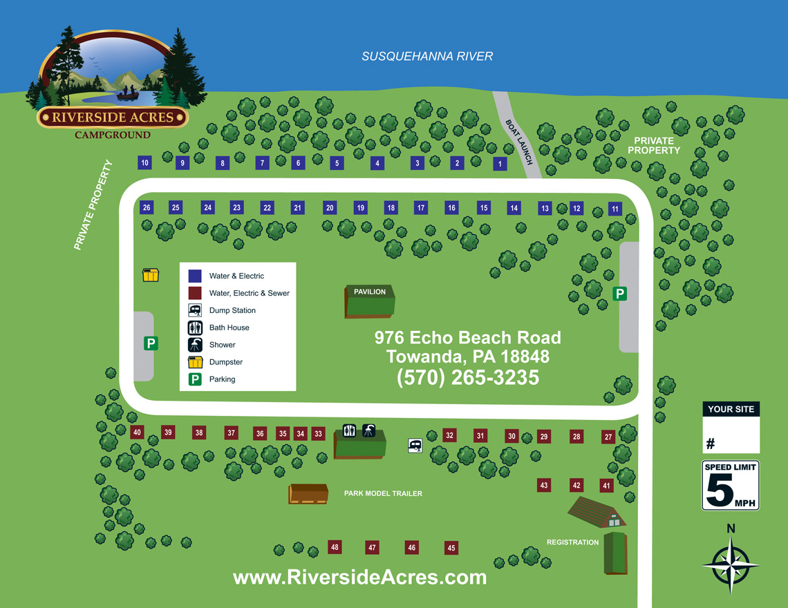 Riverside Acres Site Map